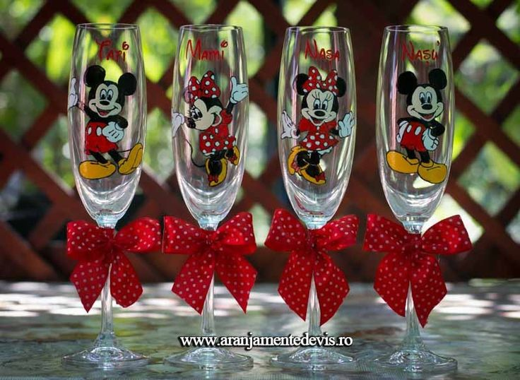 Pahare pictate Mickey & Minnie Mouse