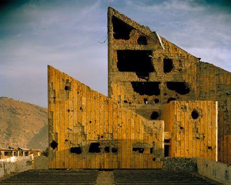 Simon Norfolk Former Soviet era Palace of Culture Kabul 2001-02 Courtesy Simon Norfolk