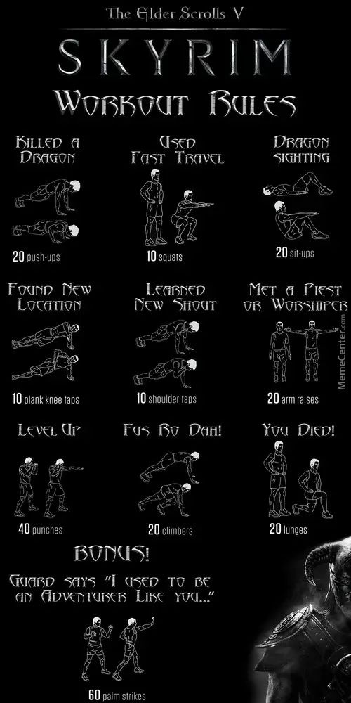 The Dovahkiin Workout, how to get ripped playing Skyrim.