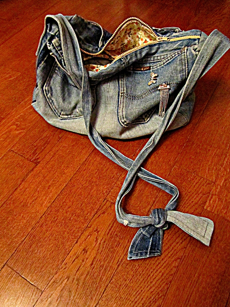 was made from mama's retro Rifle teen jeans ;) S.S.