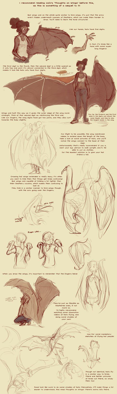 This is a spiritual sequel to Thoughts on Wings by Uzlo Anyway, I noticed a lot of people expressing a desire for a bat wing version. So here's a little guide I whipped up on them! Bat wings ...