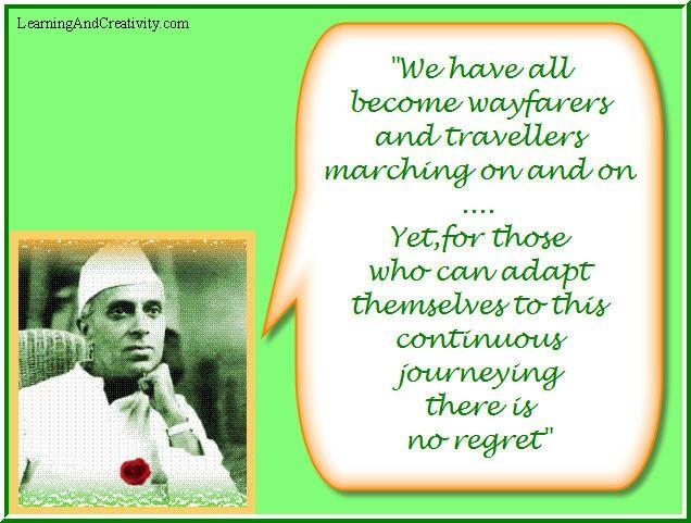 Quote on Wanderlust by Jawaharlal Nehru