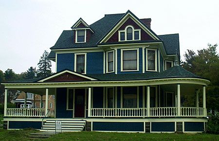 Victorian exterior paint color schemes victorian homes - Edwardian exterior house colours ...