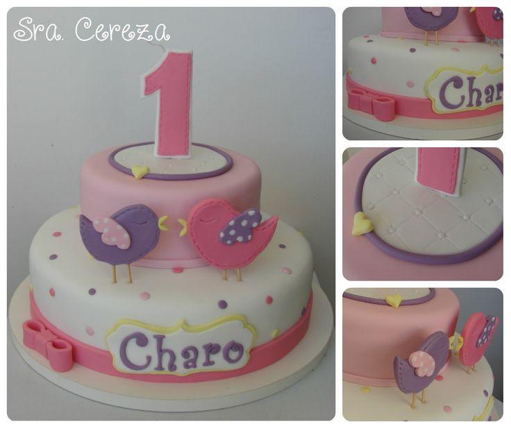 Torta de Pajaritos - Bird Girl Cake