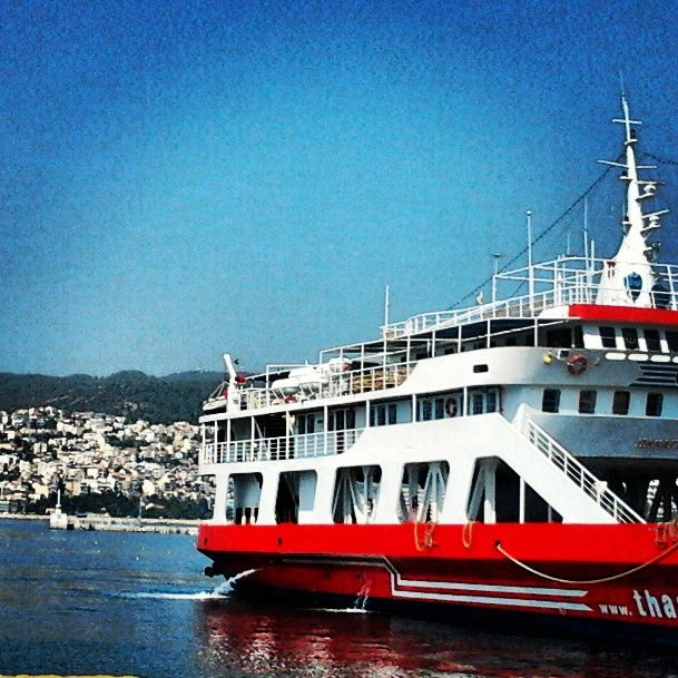 Good morning! Let's go to Thasos!!! #travel #Thassos #ferryboat #Goodmorning #vacation #boat #kavalacity #greece