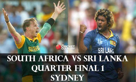 Sri Lanka bat against South Africa in quarter-final