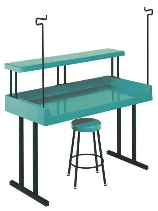 Teal laundry table