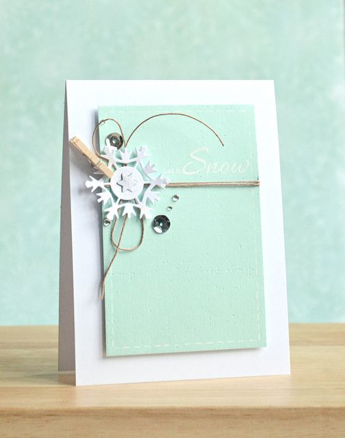 Let is Snow by Amy Wanford, aww love this clean design and I think this card will be done fast and just looks fantastic!!!