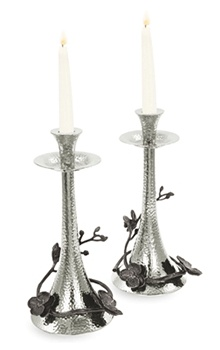 Black Orchid Candlesticks