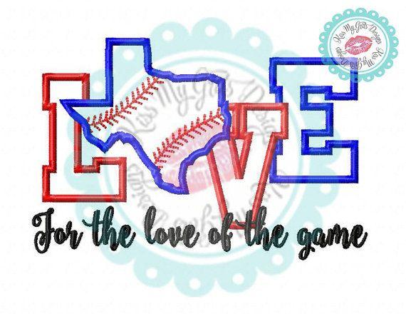 Texas Baseball For the Love of the Game by KissMyGritsDesigns