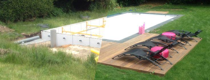 Construction d'une piscine béton armé par le fabricant Piscine du Nord