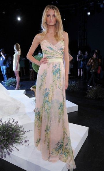 Fotini Spring 2013 RTW beautiful pastel flowered dress