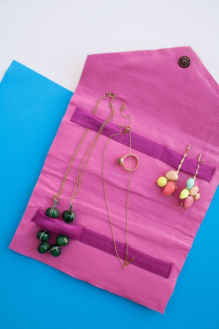 DIY: travel jewelry bag