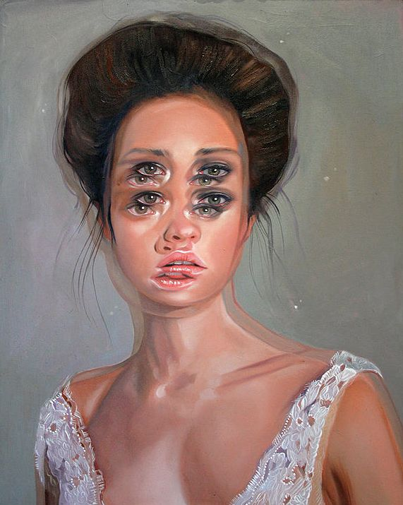 Alex Garant's gorgeously surreal portraits are painted to resemble double vision.