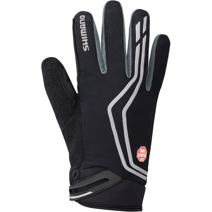 Shimano Clothing WINDSTOPPER Insulated glove, black X-Large Colour_ Bl