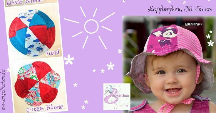 Freebook Sonnenhut Mats & Mathilda 39 - 56 Hut/Mütze für den Sommer für Kinder nähen