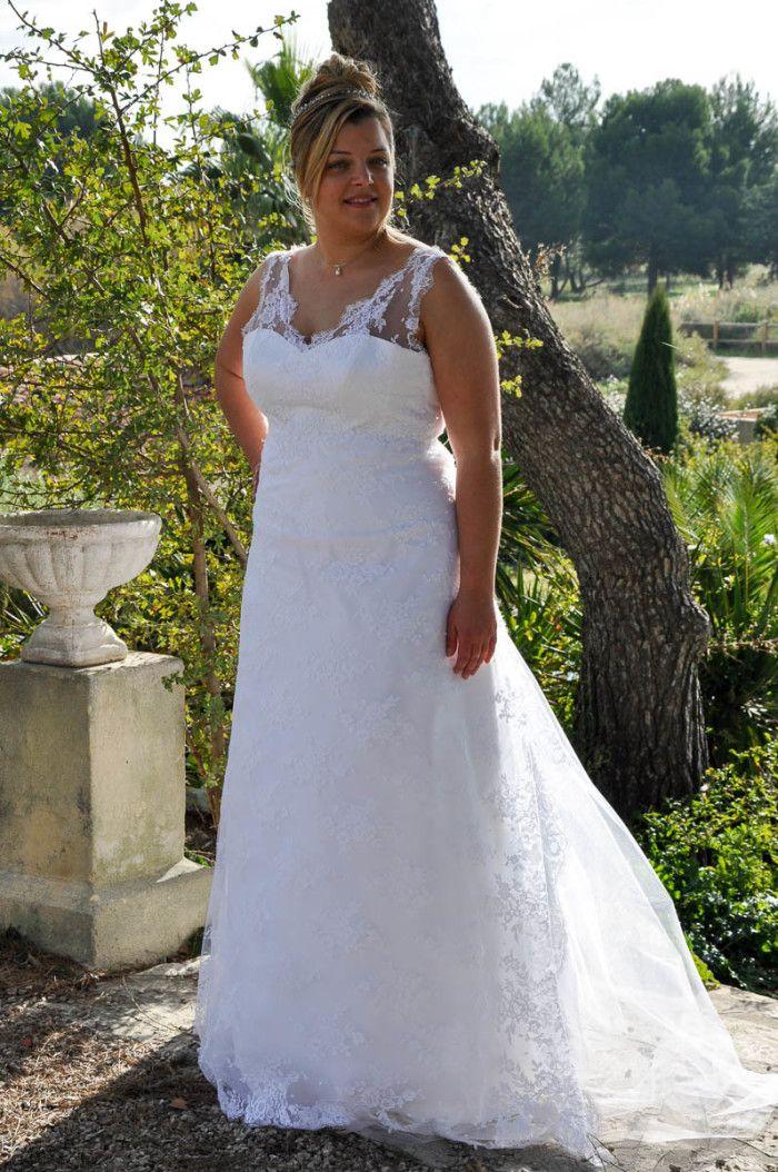 Les 25 meilleures id es de la cat gorie mariage grande for Robe taille plus pour mariage