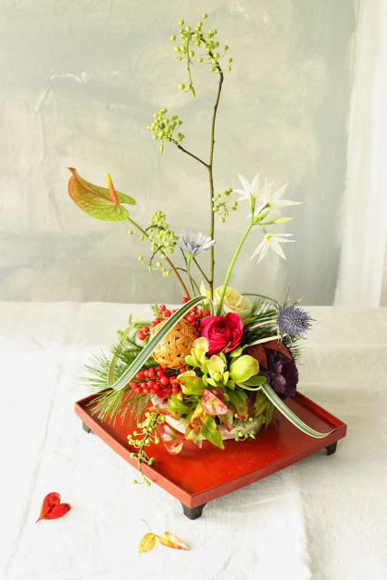 お正月の花飾り もっと見る