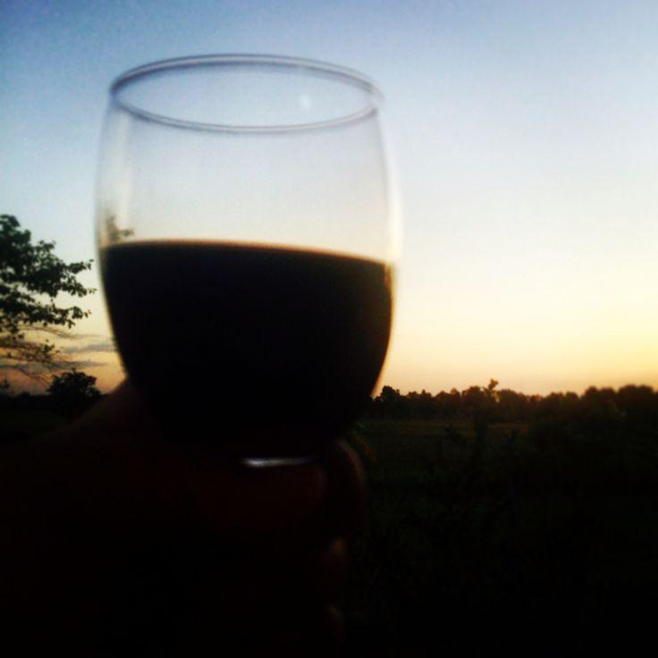 Cheers ❤️ sunset plus wine