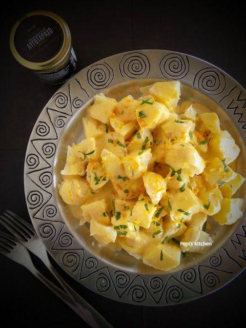 Potato Salad with Herbed Citrus Vinaigrette with Trikalinos Bottarga Powder http://pepiskitcheninenglish.blogspot.gr/2016/06/potato-salad-with-herbed-citrus-vinaigrette-trikalinos-bottarga-powder.html