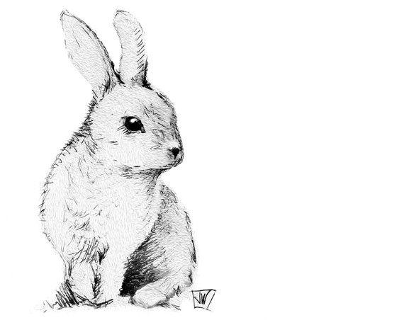 Bunny Rabbit Instant Download. Printable Art. DIY Iron On by DigitalArtDownloads, $6.95