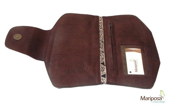 leather wallet woman brown leather wallet womens by TahelSadot