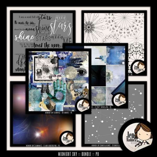 Midnight Sky {Bundle}  #jenmaddocks #digitalart #scrapbooking
