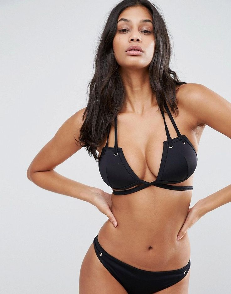 ASOS FULLER BUST Mix and Match Strappy Triangle Bikini Top with Eyelet