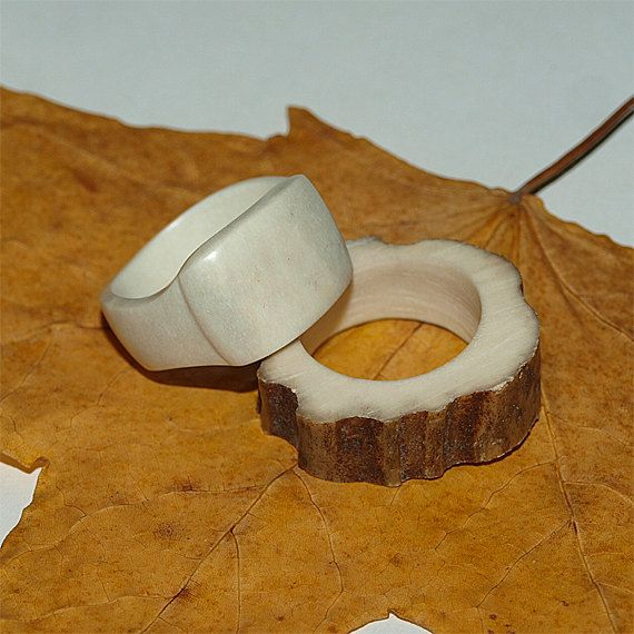 Hand carved  deer antler finger ring Size 8 by BDSart on Etsy, $50.00