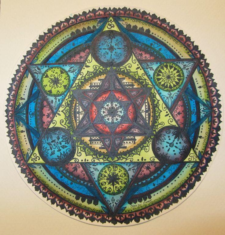 My sweet mandala, sacred geometry. My first colored mandala.