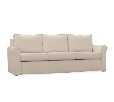 Sofa Tables Cameron ECO Roll Arm Slipcovered Grand Sofa Polyester Wrapped Cushions Organic Cotton