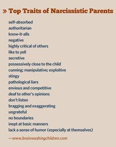Narcissistic mother, narcissistic father – here are their traits | Brainwashing Children