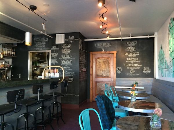 First-Timer's Guide: Carbondale: Silo, a restaurant where farm-to-table is the focus and the ever-changing menu is listed on a chalkboard wall.