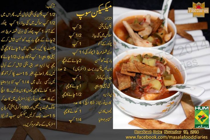 Mexican Chicken Soup Recipe Urdu by Zarnak Sidhwa Food Diaries Masala TV