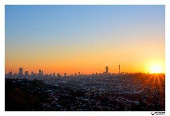 Jozi Skyline Sunset...