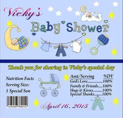 Baby Shower candy bar wrappers