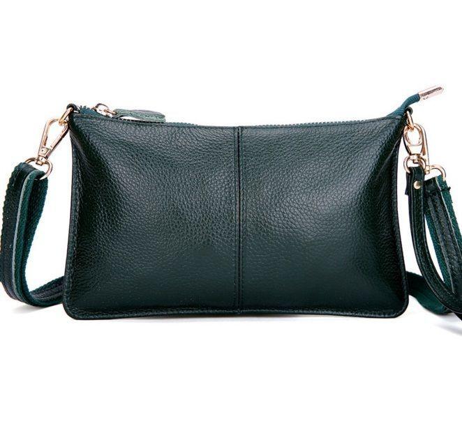 Women Cow Leather Dark Teal Handbag Clutch Small Party Evening Bag Satchel Purse #Unbranded #Clutch