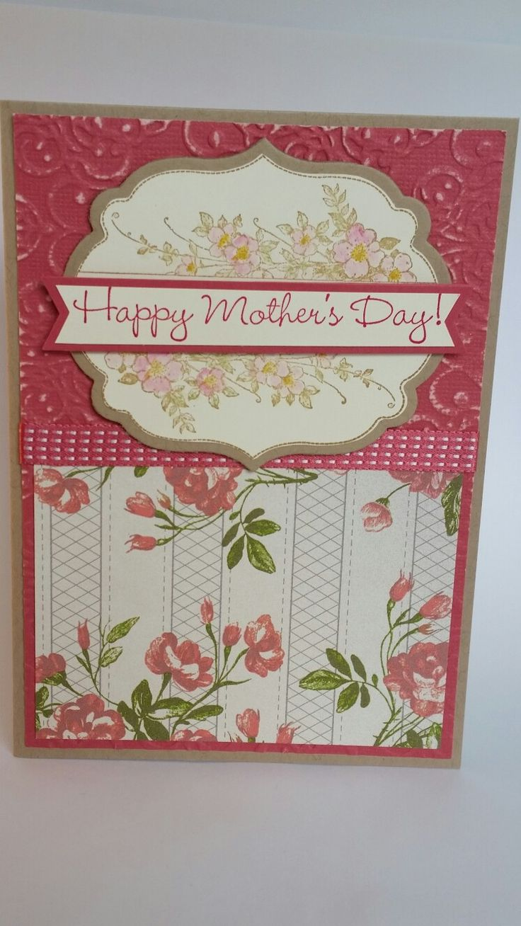Olde World roses Happy mother's day handmade card