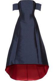 Noir Sachin & BabiVanessa off-the-shoulder sateen gown