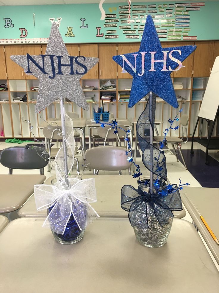 Centerpieces for NJHS induction ceremony