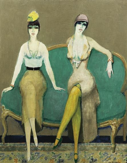 Kees van Dongen - DOLLY SISTERS, 1925, oil on canvas