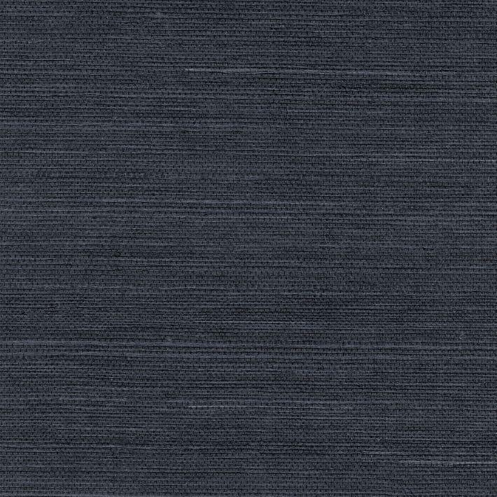 Navy Natural Sisal Grasscloth Wallpaper in 2020 ...