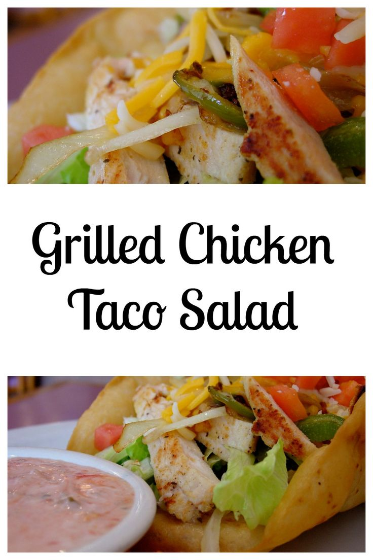 Grilled Chicken Taco Salad, Yum! Check it out.