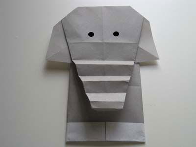 origami-elephant-head-and-body - http://www.origami-instructions.com/origami-elephant-head-and-body.html