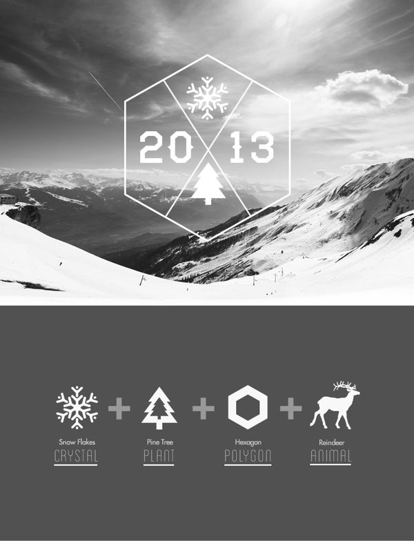 Typography Christmas Card 2013 by Rayz Ong , via Behance