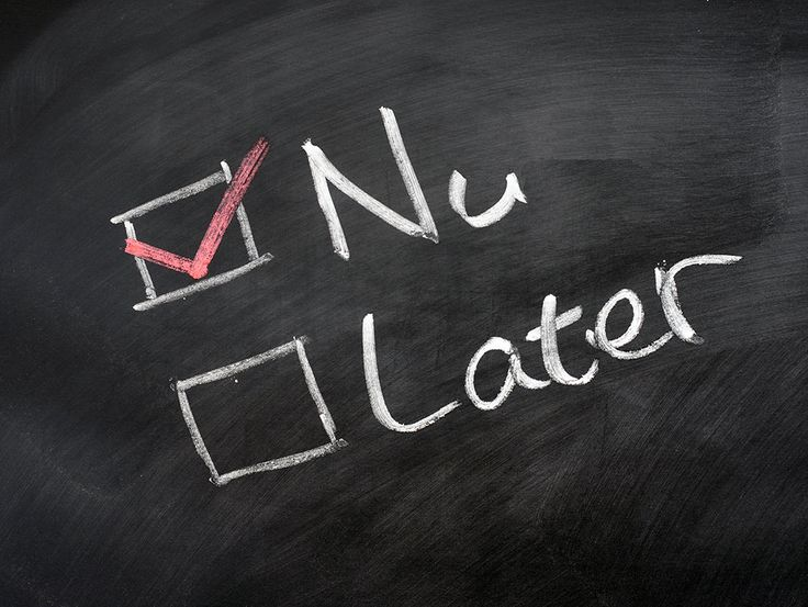 Morgen kan ook nog...  http://www.balanscoaching.be/2017/09/19/beste-tips-om-uitstelgedrag-aan-pakken/