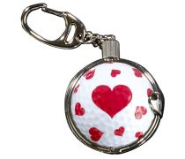 Porte clés balle de golf coeur cadeau golf