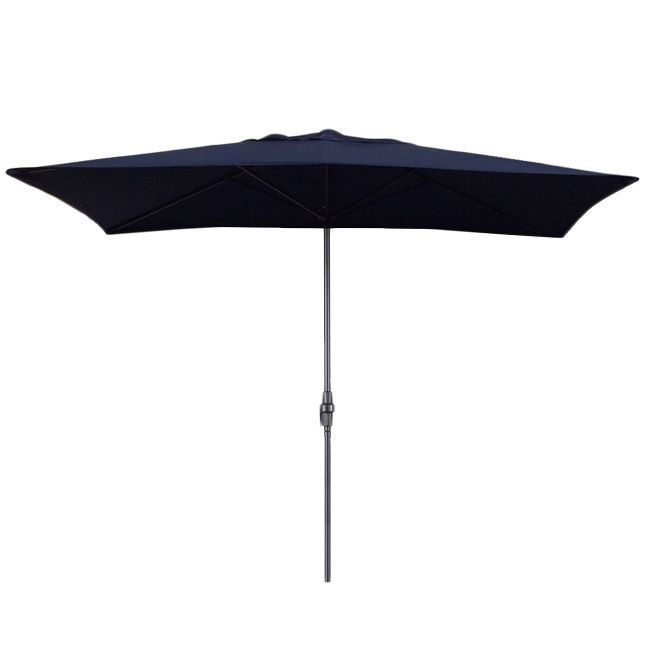 The fabric is UV rated to withstand 1,000 hours of sunlight. Protect your family from the sun and create a shady backyard oasis with this umbrella that features a rectangular shade large enough to cover a table.