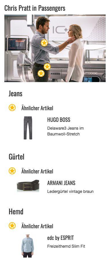 Der legere Style von Jim Preston (Chris Pratt) ändert sich währen des ganzen Films eigentlich nur insofern, dass er auch mal ein Hemd mit langen Armen zu seinem Look kombiniert. In diesem Fall hat er es sich sogar in die Hose gesteckt und sieht damit ziemlich elegant aus. Damit der Style nicht zu klassisch wird unterbricht er ihn aber dadurch, dass er sich die Ärmel lässig hochgekrempelt hat und seinem Outfit so eine praktischere Note gibt. Aber auch die beiden aufgesetzten Taschen und die…
