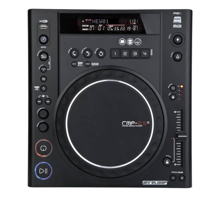 El Reloop RMP-2.5 Alpha es un reproductor cross-media. Se siente sólido y profesional, y tiene todas las características que necesitaría un DJ CD o USB / MP3.